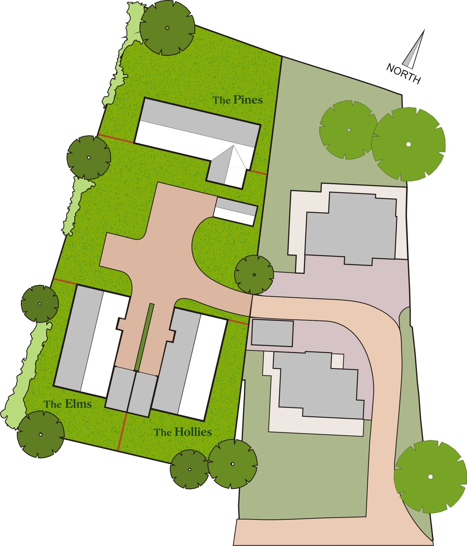 Layout of off High Street, Wickham Market, Suffolk, IP13 0RF Development