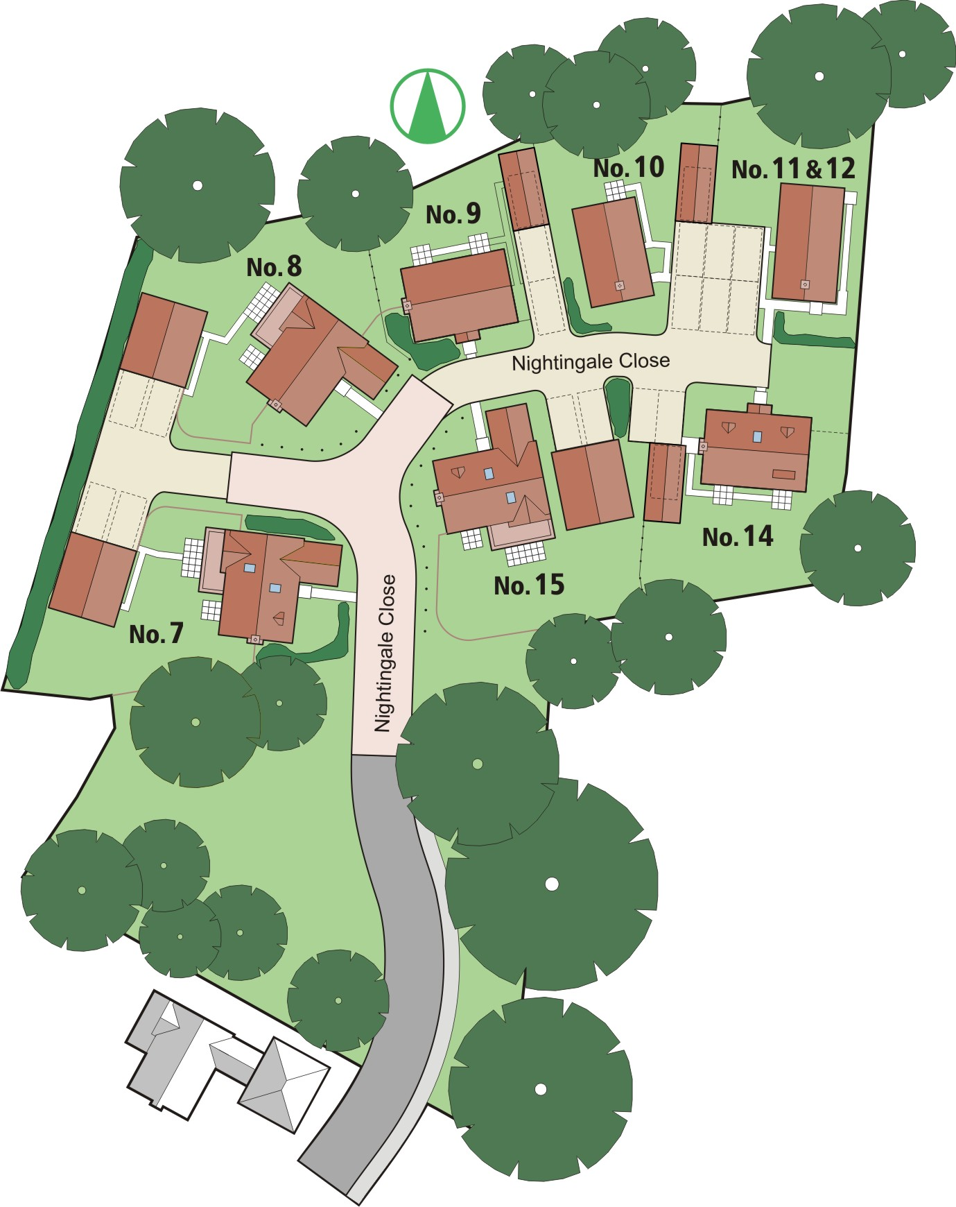 Layout of The Nightingales (Phase 2), Melton, Suffolk, IP12 1GX Development